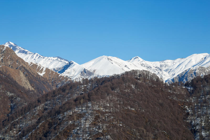 Góra w śniegu obraz stock