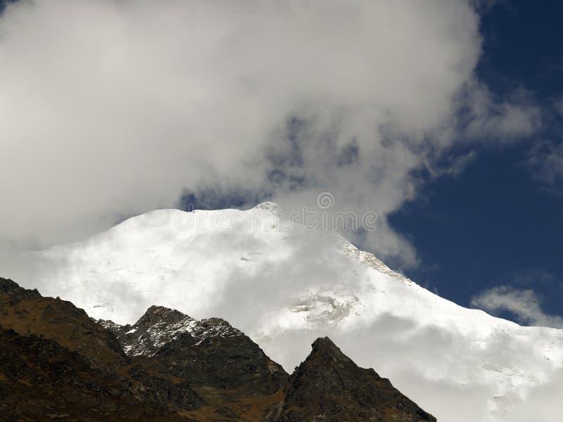 Góra w Langtang obraz royalty free