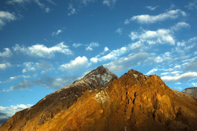 Góra w pamirs zdjęcie royalty free