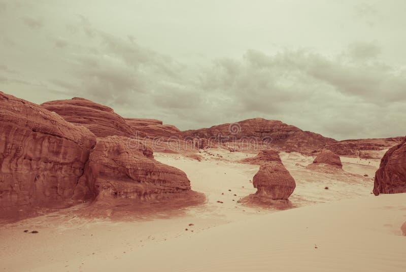 Góra w Synaj pustyni Egipt obrazy royalty free