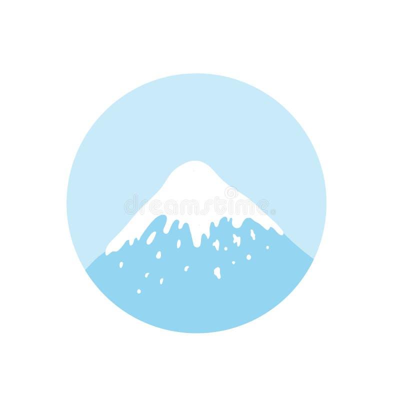 Góra wierzchołek, wektorowy logo ilustracja wektor