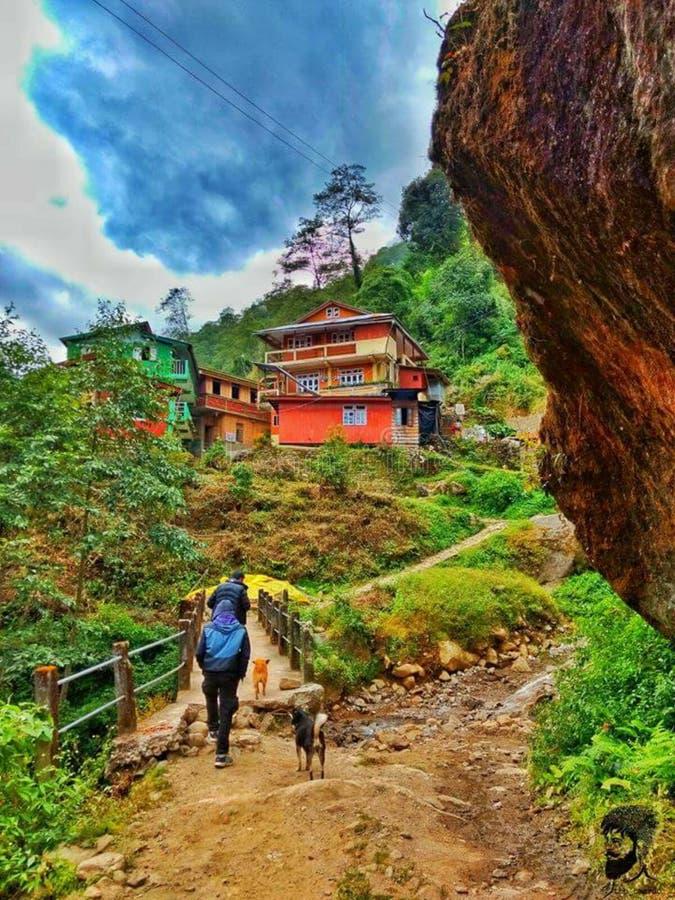 Górkowaty region dla trekking zdjęcie royalty free