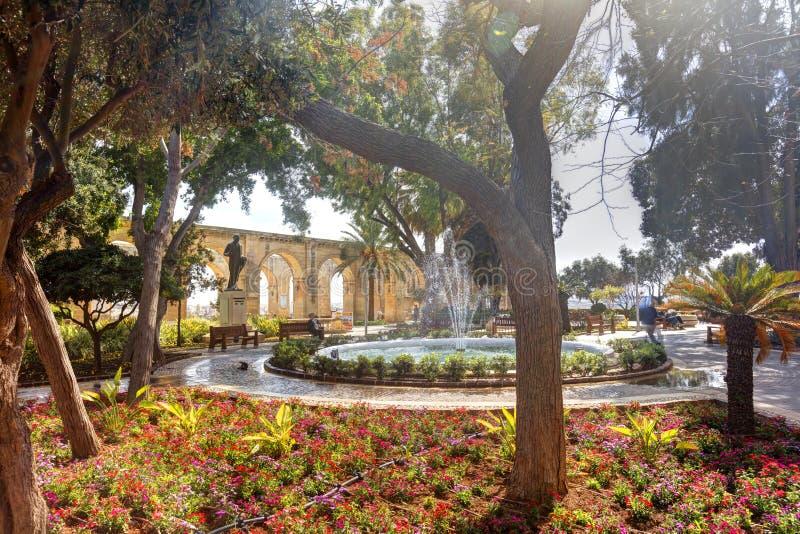 Górni Barrakka ogródy, Valletta obraz royalty free