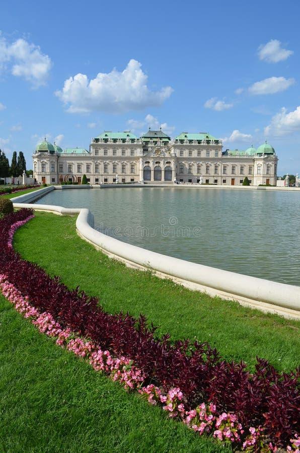 Górni Bellevedere ogródy, Wiedeń Austria obrazy royalty free