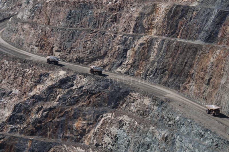 Górnicza ciężarówka w Kalgoorlie obrazy royalty free