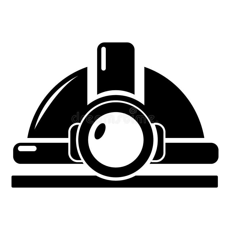 Górnicza hełm ikona, prosty styl ilustracja wektor