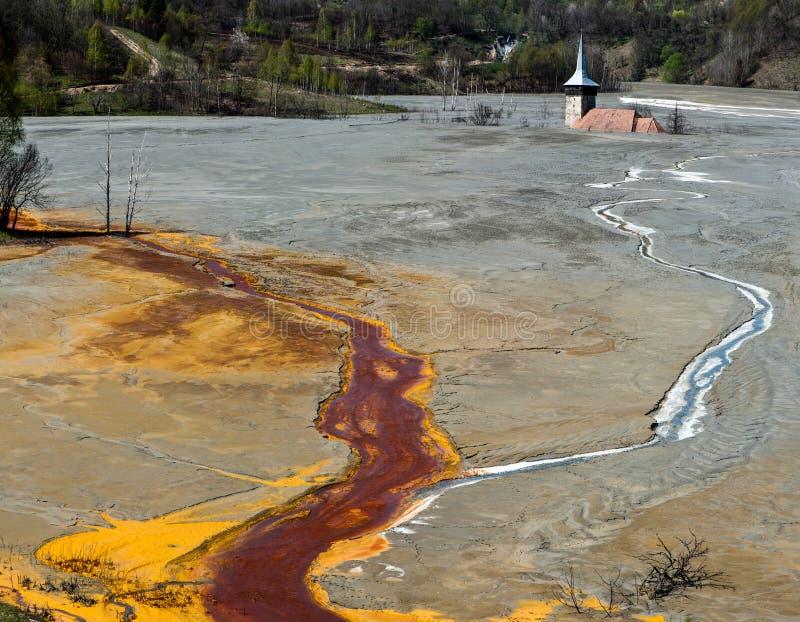 Górnicza katastrofa obraz stock