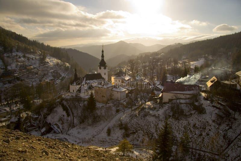 górnicza stara wioska obrazy stock