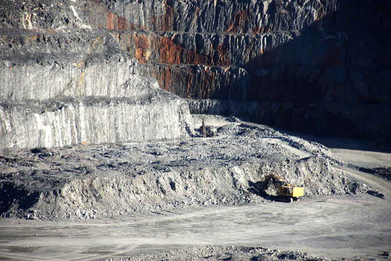 Górnicze operacje fotografia royalty free