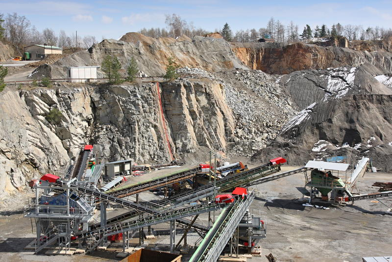 górniczy łup obrazy stock