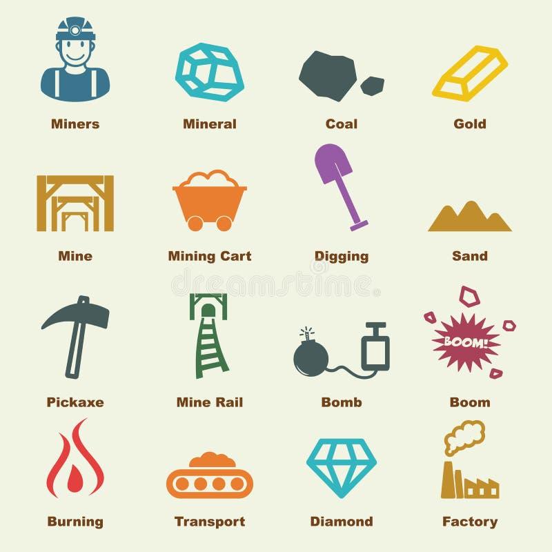Górniczy elementy royalty ilustracja