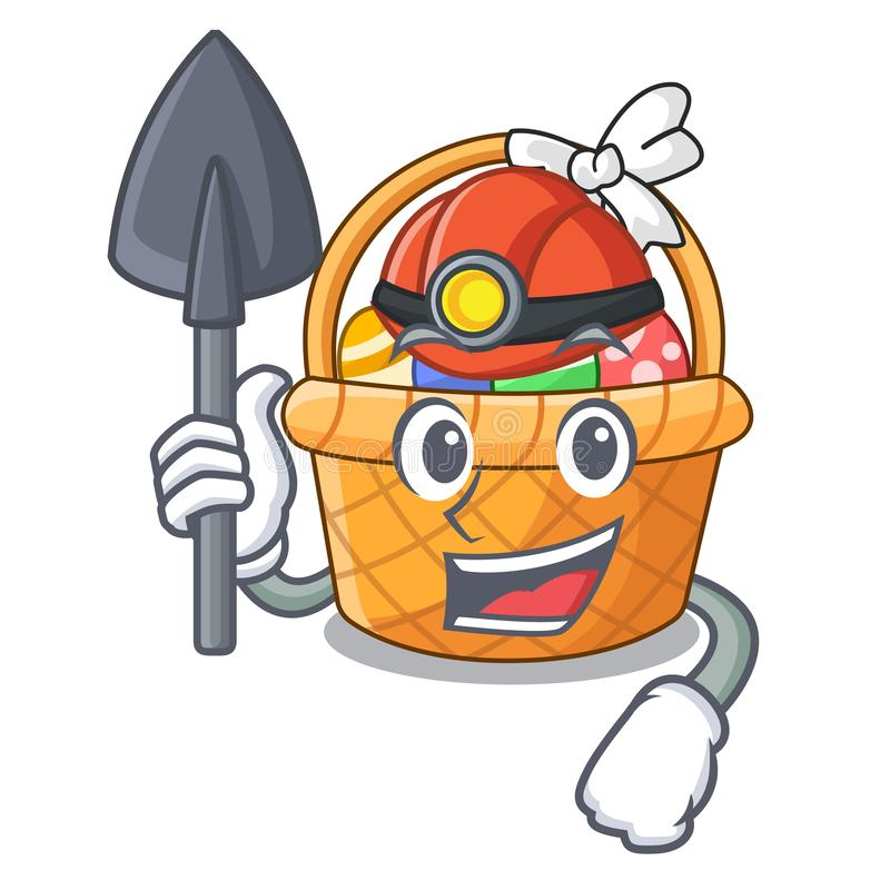 Górnika Easter kosza miniatura kształt maskotka ilustracji