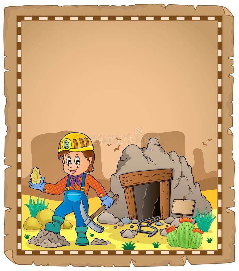 Górnika tematu pergamin 2 ilustracja wektor