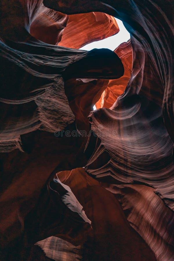 Górny antylopa jar, piękni kształty obraz stock