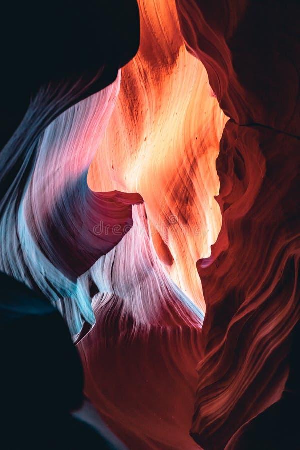 Górny antylopa jar, piękni kształty obrazy stock
