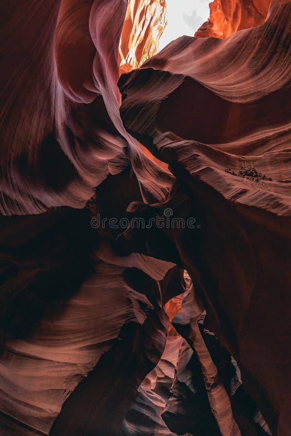 Górny antylopa jar, piękni kształty fotografia stock