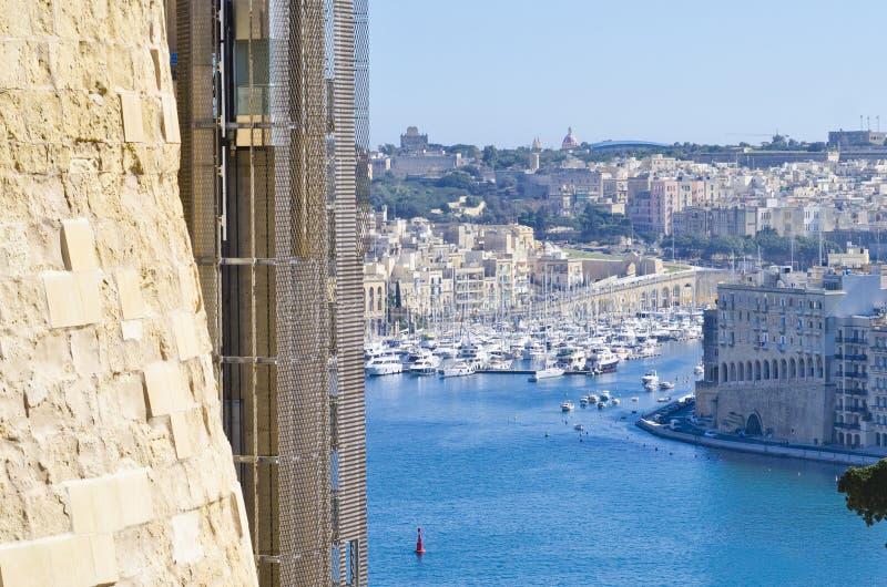 Górny Barrakka dźwignięcie, Valletta Malta zdjęcie stock