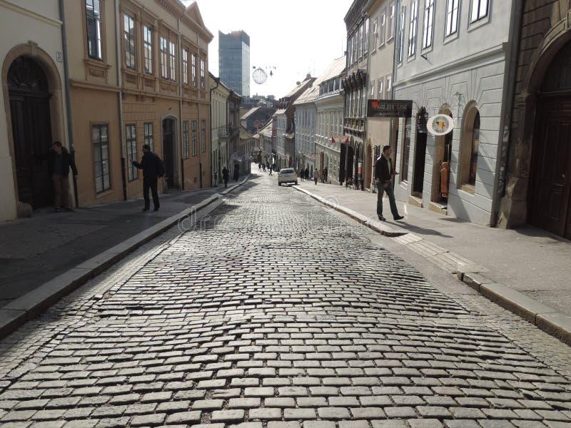 Górny miasto Zagreb fotografia royalty free