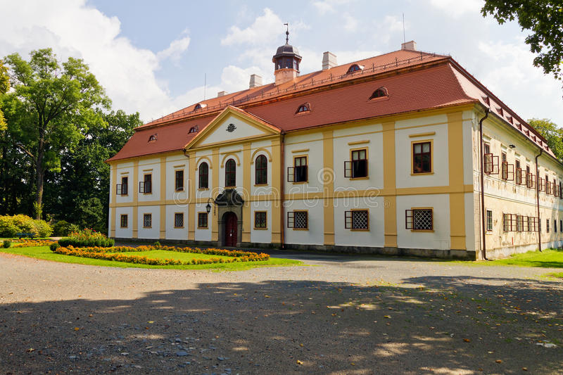 Górska chata Chotebor, republika czech obraz stock