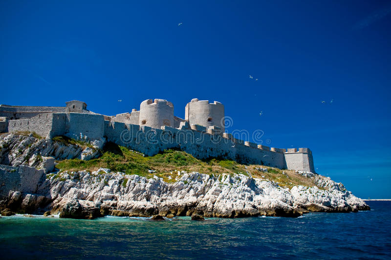 górska chata d France jeżeli Marseille zdjęcie royalty free