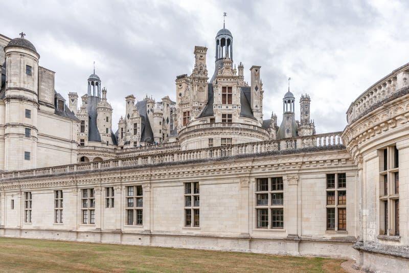Górska chata De Chambord, królewski średniowieczny kasztel Loire valley france obrazy royalty free