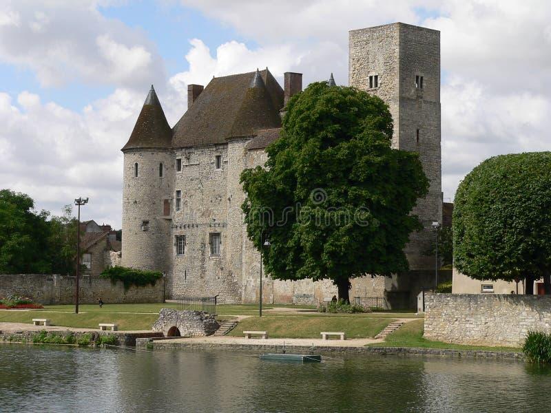 górska chata de et France Marne nemours wonton obrazy stock