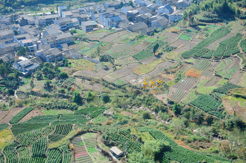 Górska Wioska Chiny obrazy royalty free