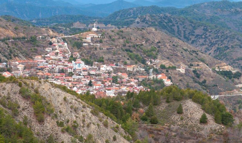 Górska wioska Pedoulas, Cypr fotografia stock