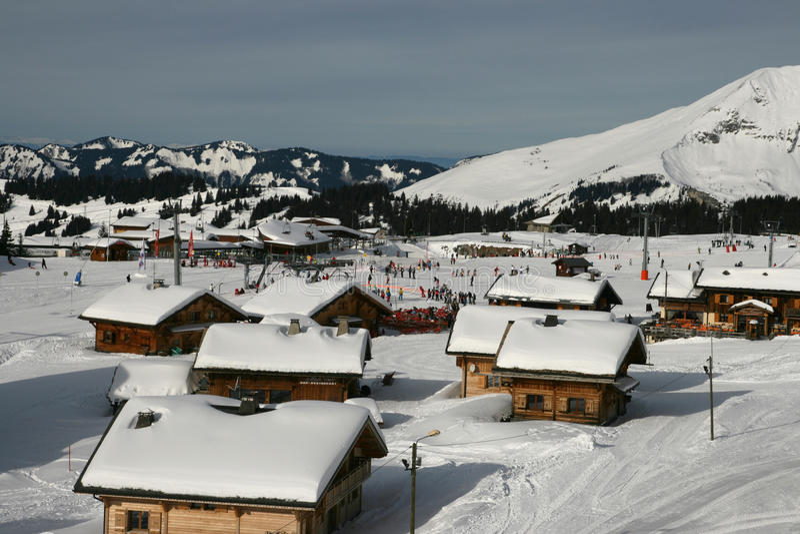 Górska wioska w Alps fotografia stock
