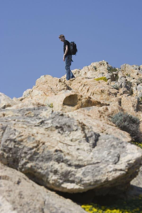 górski wspinaczkowy nastolatków. zdjęcia royalty free
