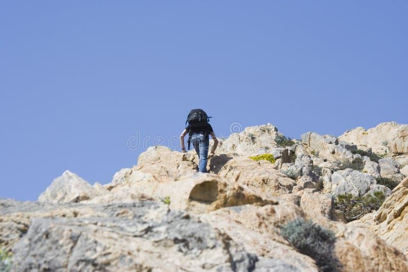 górski wspinaczkowy nastolatków. fotografia royalty free