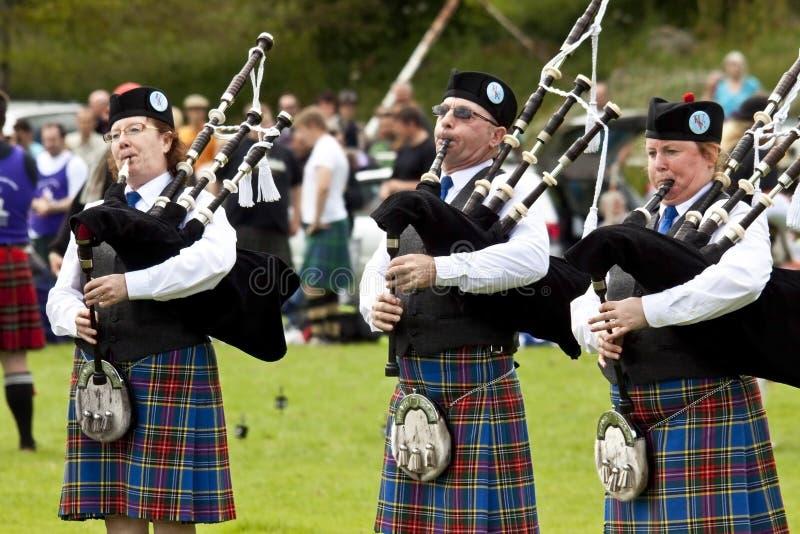 Górskie gry Scotland zdjęcia stock