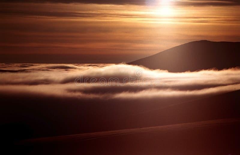 górskiego szczytu słońca obrazy royalty free