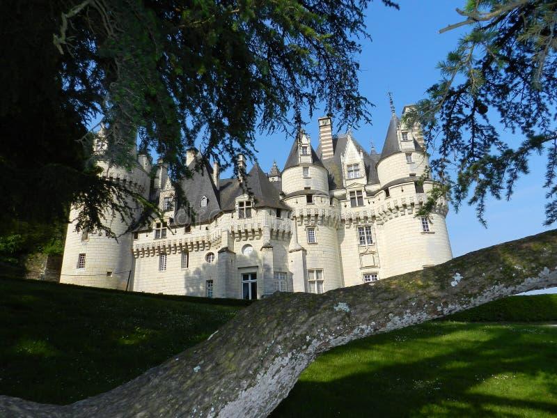 Górskiej chaty d& x27; Ussé - indre-et-loire zdjęcia royalty free