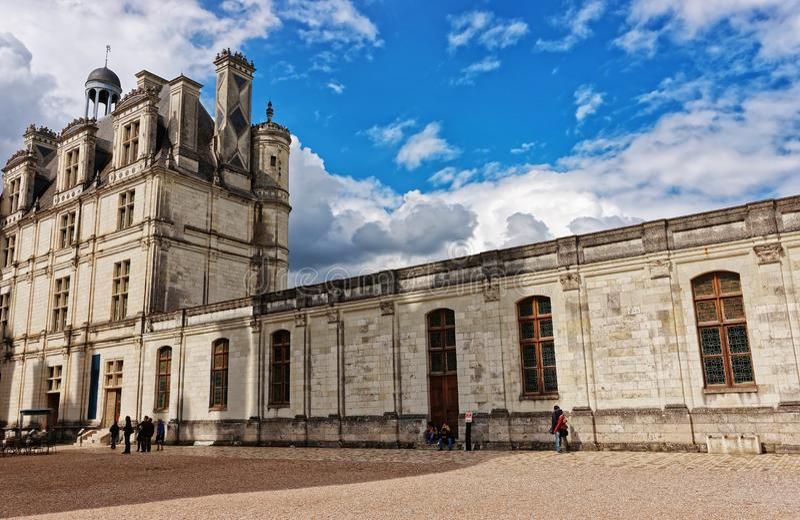 Górskiej chaty De Chambord pałac Loire dolina w Francja obrazy stock