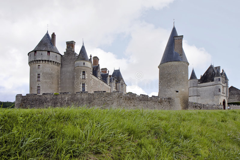 górskiej chaty de France montpoupon zdjęcia stock