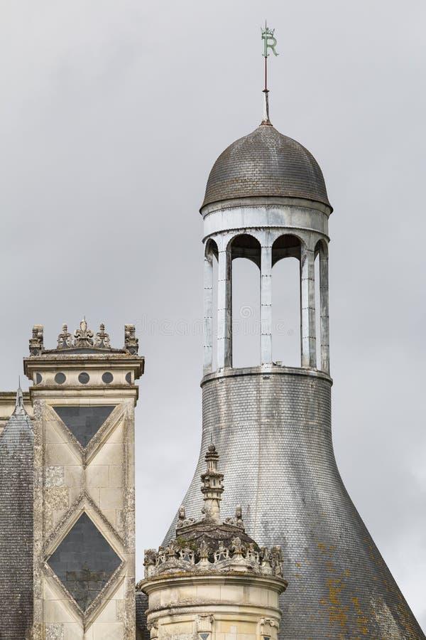 Góruje Górska chata De Chambord Renesansu kasztel góruje loire fotografia royalty free