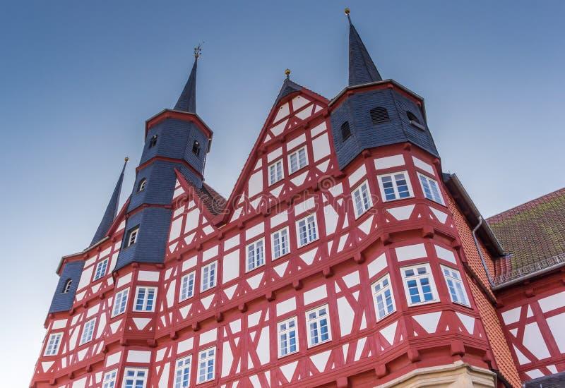 Góruje urząd miasta Duderstadt zdjęcie royalty free