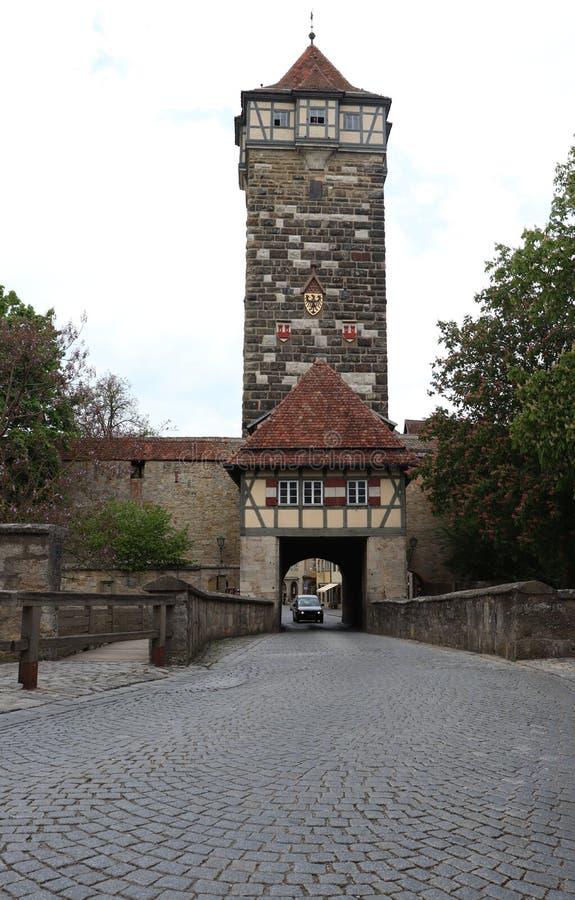G?ruje w Rothenburg ob dera Tauber w Niemcy obrazy stock