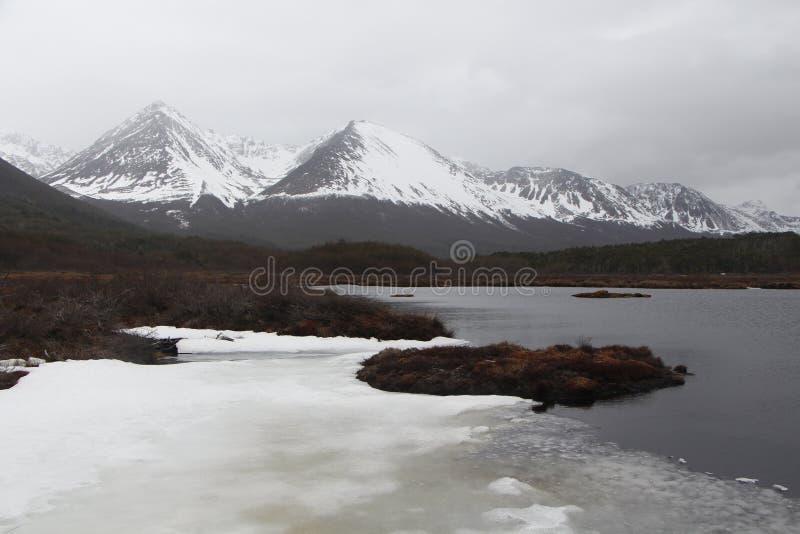 Góry śnieg obrazy stock