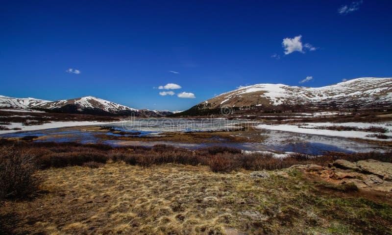 Góry Bierstadt jezioro fotografia stock