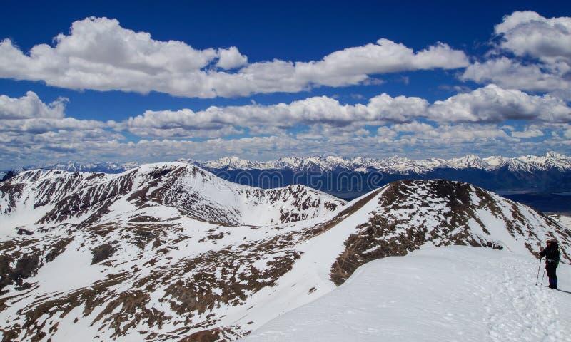 Góry Bierstadt szczyt fotografia stock
