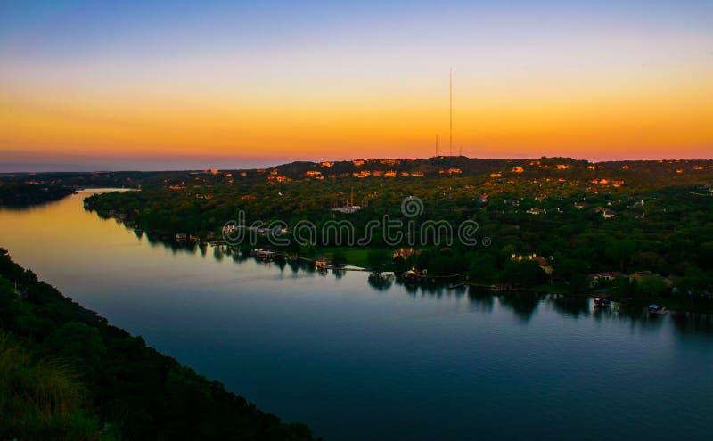 Góry Bonnell Austin wschodu słońca Zachodni pasek Wenus fotografia royalty free