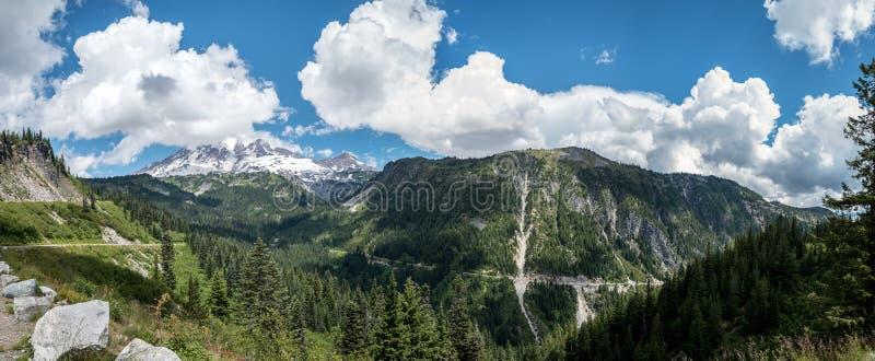 Góry Dżdżysta panorama obraz stock