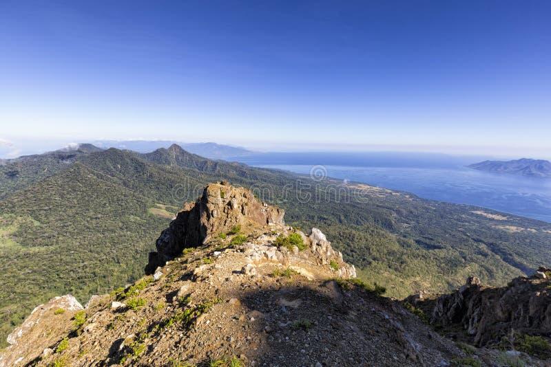 Góry Egon szczyt zdjęcie stock
