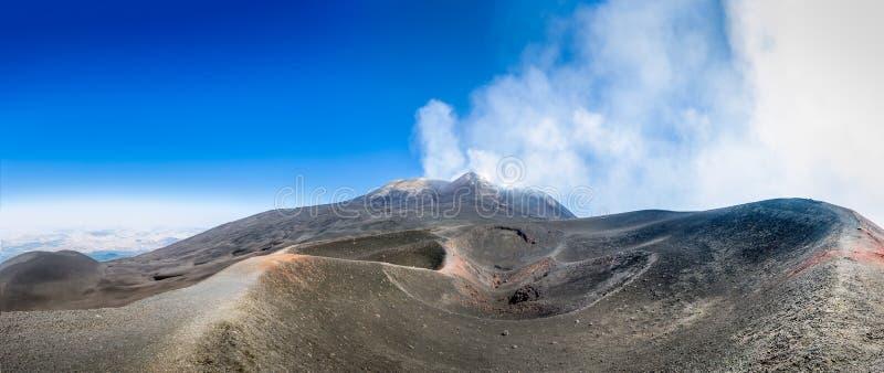 Góry Etna wulkanu panorama zdjęcie royalty free