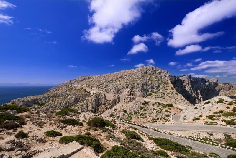 Góry horyzontalne Mallorca wyspa zdjęcia royalty free