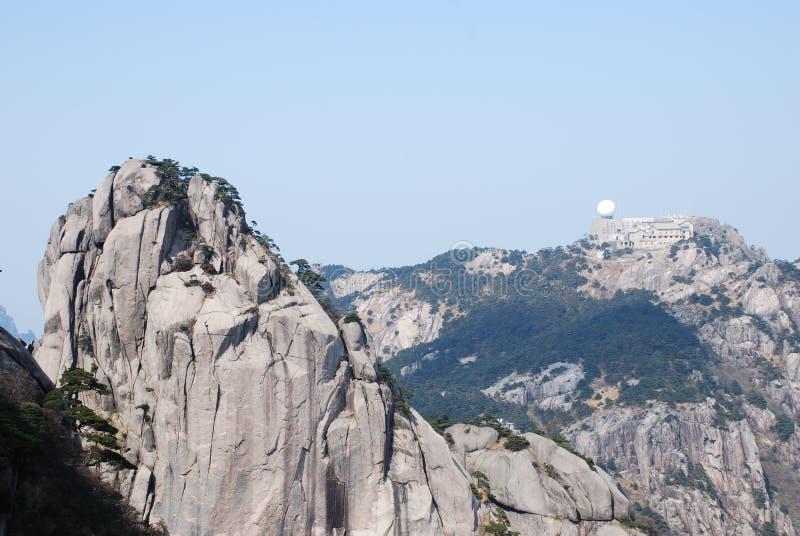 Góry Huangshan sceneria fotografia stock