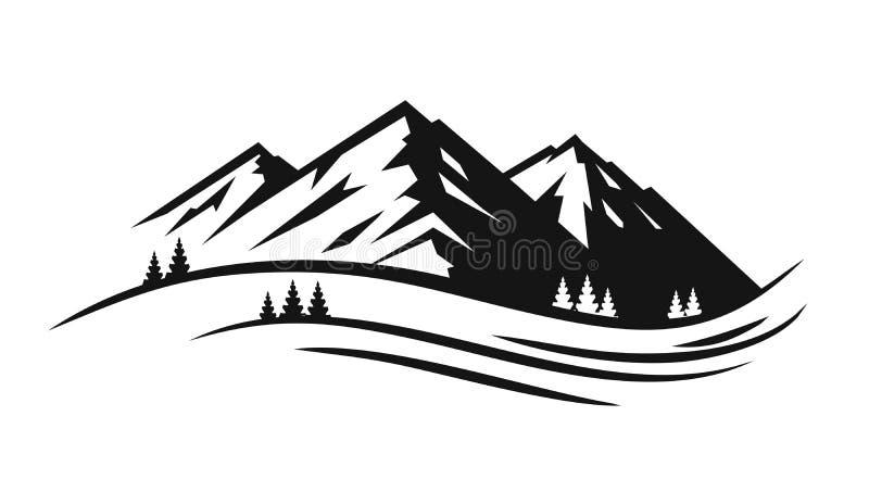Góry i krajobrazu wektor ilustracja wektor
