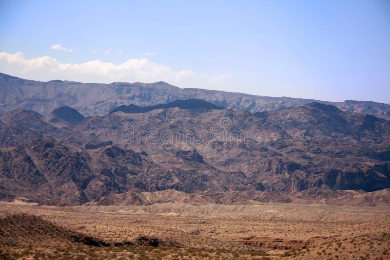 Góry I wzgórza w Nevada obrazy royalty free